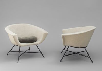 Geneviève Dangles and Christian Defrance, 'Pair of armchairs 58 - Corbeille', 1958