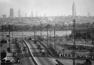 Andreas Feininger, 'View of New York City skyline from Bendix, NJ', 1940's