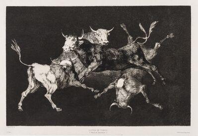 Francisco de Goya, 'Al Toro y al Aire Darles Calle (Lluvia de Toros), from: 'Los Proverbios'', circa 1824