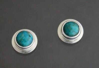 Kathy Marie Anderson, 'Sterling Silver Turquoise Stud Earrings ', 2000-2019