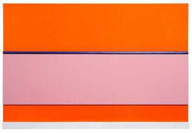 John Nixon, 'Orange monochrome construction with 3 colours', 2000