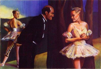 Mark Stock, 'Musician and Two Dancers', 1987