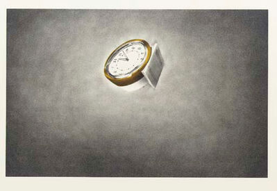 Ed Ruscha, 'Clock (from Domestic Tranquility series)', 1974