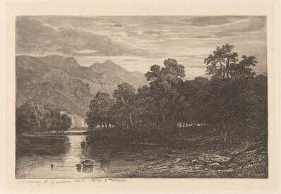 Alexandre Calame, 'Mountain River', 1840