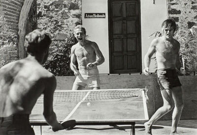 Lawrence Schiller, 'Paul Newman and Robert Redford, Ping-Pong', 1968