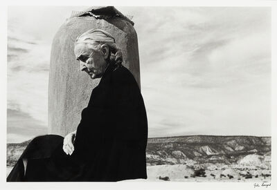 John Loengard, 'Georgia O'Keeffe Roof at Ghost Ranch, New Mexico', 1967