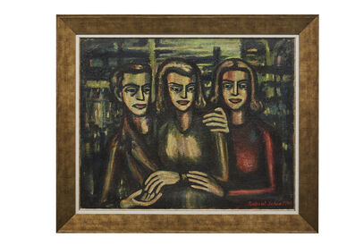 "Jabra Ibrahim Jabra, 'Untitled,  (""Three Figures"")', 1946"