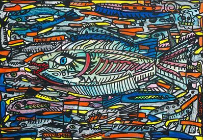Robert Combas, 'Les poissons de l'eau qui coule', 2018