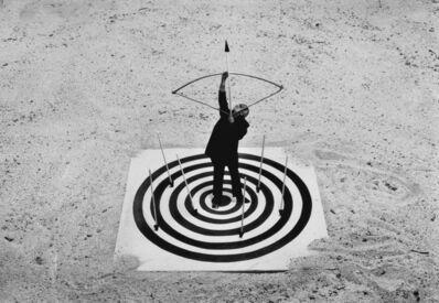 Gilbert Garcin, 'Le coeur de la cible - Bull's eye', 1998