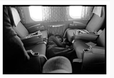 Lawrence Schiller, 'Robert Kennedy (asleep on plane), Last Campaign', 1968
