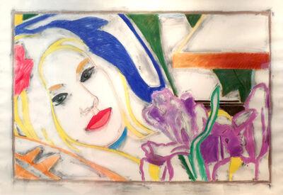 Tom Wesselmann, 'Reverse Drawing: Bedroom Blonde with Irises', 1993