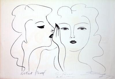Walasse Ting 丁雄泉, 'Deux Visages', 1977