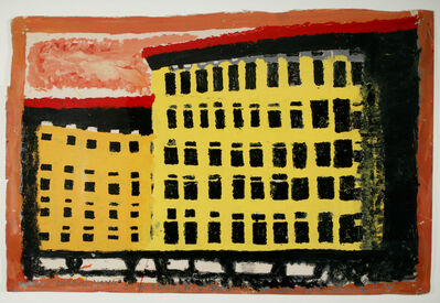 William Hawkins, 'Yellow and Orange Building', 1982