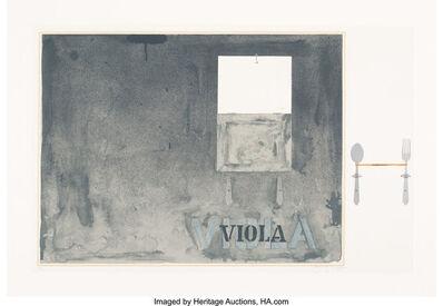 Jasper Johns, 'Voila', 1972