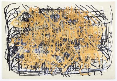 Dan Miller, 'Untitled (Black and Thick Gold Lines)', 2014