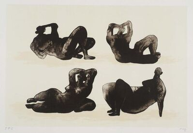 Henry Moore, 'Four reclining figures'