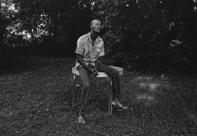 Mark Steinmetz, 'Knoxville, TN (man sitting on table)', 1991