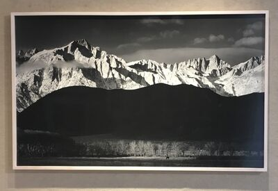Ansel Adams, 'Winter Sunrise, Sierra Nevada From Lone Pine', 1944