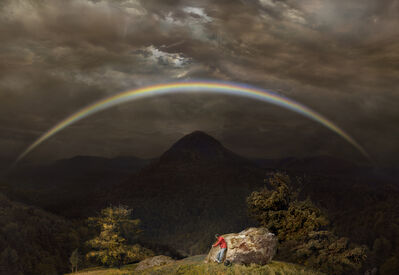 Hiroyuki Masuyama, 'Mountain landscape with rainbow (after Caspar David Friedrich, 1810)', 2018