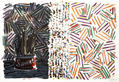 Jasper Johns, 'Untitled (Savarin and Crosshatch)', 1977