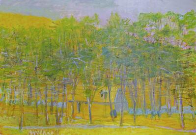 Wolf Kahn, 'Yellow Barn Half Hidden', 2001