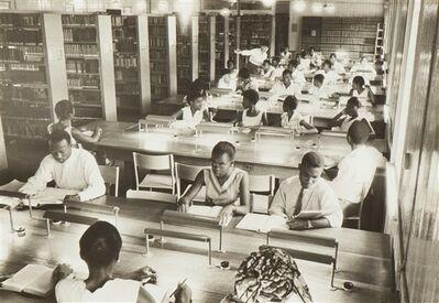 Ed van der Elsken, 'Students in the library in Freetown, Sierra Leone, Africa', ca. 1959