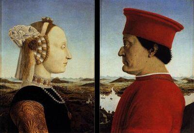 Piero Della Francesca, 'Battista Sforza and Federico da Montefeltro', ca. 1474