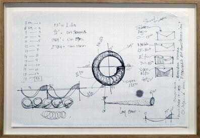 Oswaldo Maciá, 'Escenario en construcción, Monumento para rotonda Calle 19 - Carrera 3, Estudio - Composición. Tiempos', 2016