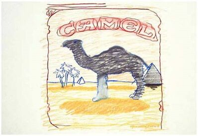 Larry Rivers, 'Blue Line Camel', 1978-1990