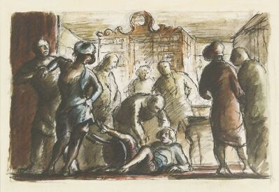 Edward Ardizzone, 'Barmaids Old and New; Girls Fighting at the Washington', 1939/1980