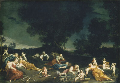 Giuseppe Maria Crespi, 'Cupids Disarming Sleeping Nymphs', ca. 1690/1705