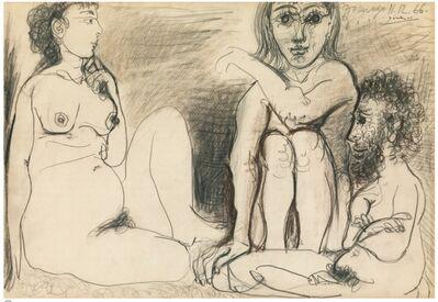 Pablo Picasso, 'Trois personnages nus assis', 1966