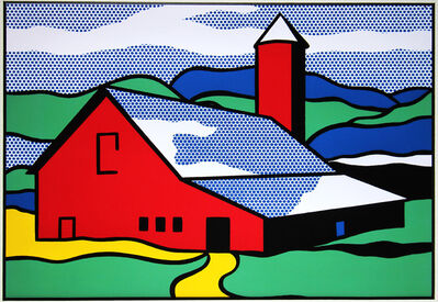 Roy Lichtenstein, 'Red Barn', 1987