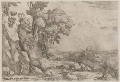 Ercole Bazicaluva, 'Landscape with Resting Herdsmen', 1638