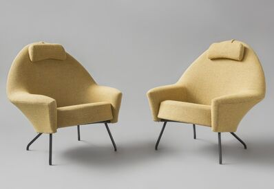 Joseph-André Motte, 'Pair of armchairs and stool', 1958