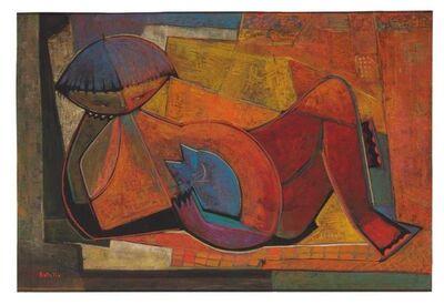 Angel Botello, 'Niña con gato', ca. 1965