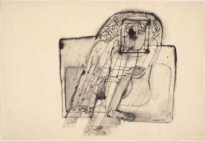Ibrahim El-Salahi, 'By His Will, We Teach Birds How to Fly, No 10', 1969