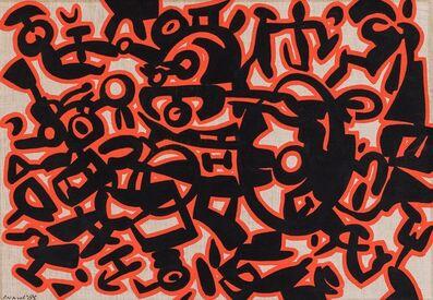 Carla Accardi, 'Segni neri con rosso', 1985
