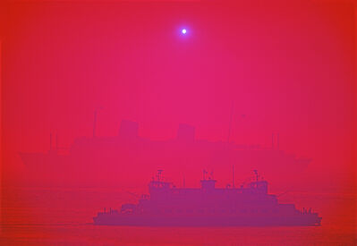 Mitchell Funk, 'Staten Island Ferry in New York Harbor with Magenta Filter', 1971