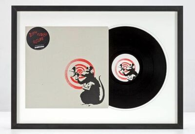 Banksy, 'Dirty Funker - Future (Radar Rat) Red edition on white'