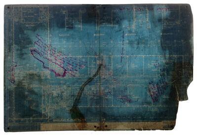 John Preus, 'Prussian Blue / Ground Floor Plan', 2016