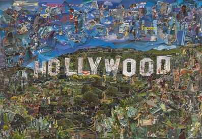 Vik Muniz, 'Hollywood (Postcards from Nowhere)', 2014