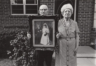 Ed Sievers, 'Untitled (old couple with wedding portrait)', c. 1970's