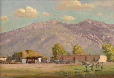 Oscar Berninghaus, 'Taos Pueblo'