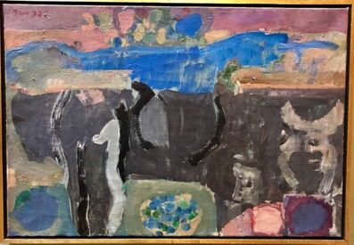 Hanna Ben Dov, 'Lyrical Abstract Israeli Expressionist Oil Painting', 20th Century