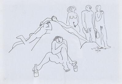 Walter Battiss, 'Sunworshippers', 1974