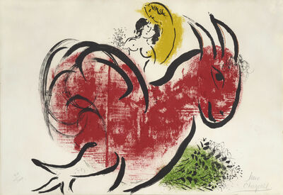 Marc Chagall, 'Le Coq Rouge. The Red Rooster', 1952