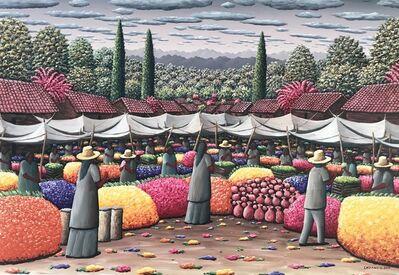 Casiano García, 'Mercado de flores ', 2020