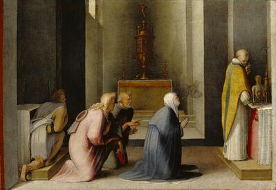 Domenico Beccafumi, 'The Miraculous Communion of Saint Catherine of Siena', 1513-1515