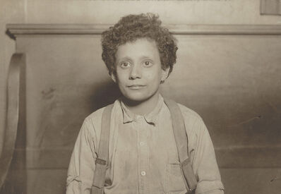 Lewis Wickes Hine, 'Untitled (Boy from Hull House, Chicago)', ca. 1910